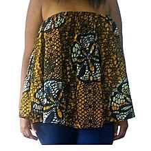 Off-Shoulder African Print Top