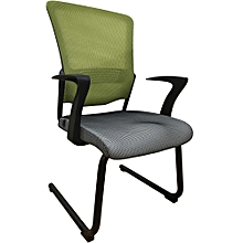 Special Offer! Ergonomic Office Visitor Chair with Mesh Back and PU Seat - Green & Grey