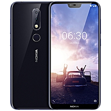 Nokia X6 5.8-Inch (6GB, 64GB ROM) Android 8.1, 16MP+16MP, 3060mAh, 4G LTE Smartphone - BLUE