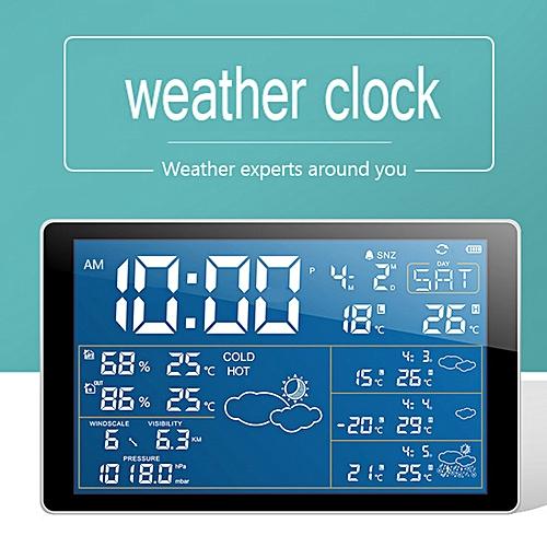 Home Clock Radio Display Hygrometer Thermometer Weather Station Outdoor  Sensor