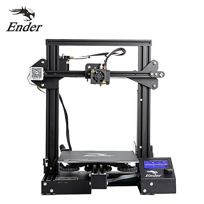 Creality 3D Ender-3 Pro High Precision 3D Printer DIY Kit MK-10 Extruder  with Resume Printing Function Heatbed Support 220*220*250mm Printing Size  for