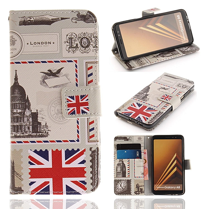 pretty nice b3aac d0af1 PU Leather Wallet Case Cover for Samsung Galaxy A8 Plus 2018