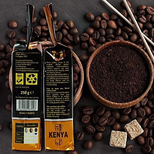 Moka Espresso Dark Roast Coffee Beans 250gram 2 Packets