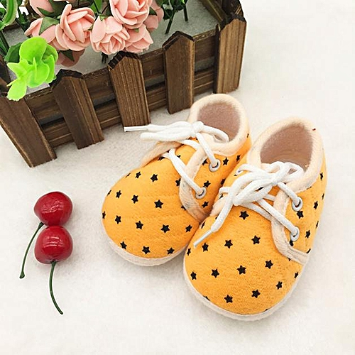 7b63f4b70 Generic bluerdream-Stars Printed Toddler Anti-Slip Soft Baby Shoes Yellow 11-As  Shown. By Generic