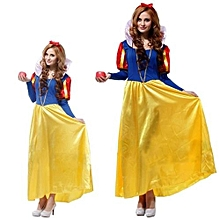 Adult Long Sleeve Snow White Cosplay Costume -Yellow&Blue