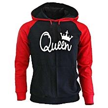 King Queen Hoodies King Queen Raglan Hoodies King Hoodie Queen Hoodie Couple Hoodie Couple Sweater Couple Hooded Gift For Couple (Black = Women Red=Men)