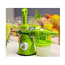 Vintage-multifunction-vegetables-fruits-manual-Juicer- Green