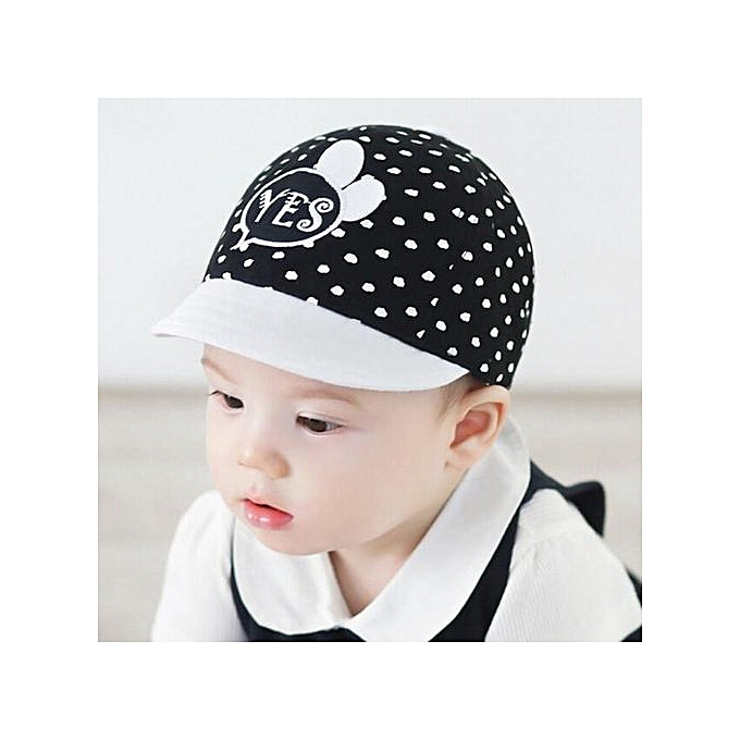 058612bd18f48 Child Kid Letters Embroidery Summer Soft Brim Flanging Sun Hat Baseball Cap  BK-Black
