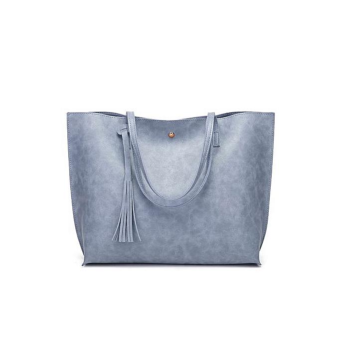 Zetenis Woman Casual Bags Women Leather Tassel Handbag Shoulder Bag  Crossbody Bag Blue -Blue 782b9b694992b
