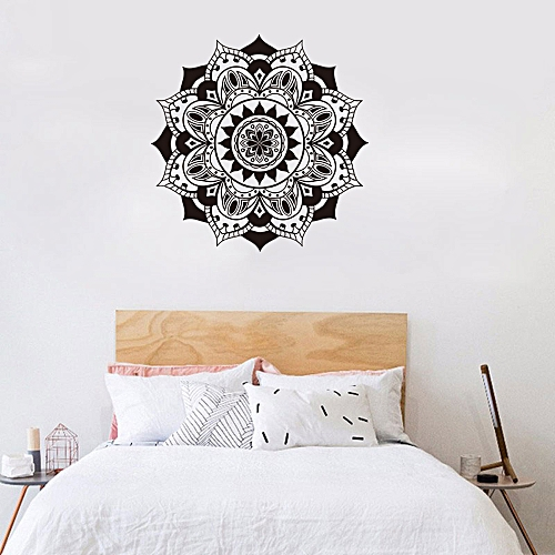 neworldline mandala flower indian bedroom living room wall stickers