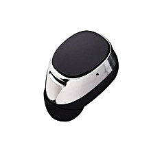 Super Mini Stereo Invisible Bluetooth Headset Wireless V4.1 Handfree Smallest Bluetooth Earphone Headphone For Samsung All Phone(Silver) (Color:As First Picture)