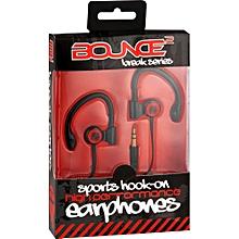 Break Series Hook-On Earphones - Black and Red