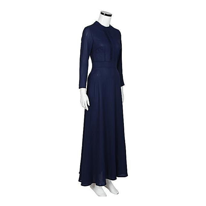 39adb933f53 ... Hiaojbk Store Women Solid Long Sleeves Slim Maxi Dress Cocktail Party  Dresses L-Dark Blue ...