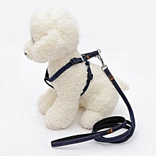 Strong Denim Dog Pet Puppy Adjustable Nylon Lead Leash Traction Rope