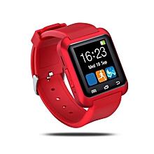 U80 Bluetooth Smart Watch Pedometer Sleep Monitor Drink Sedentary Remind Watch red