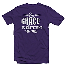 Purple T shirt_Sufficient grace