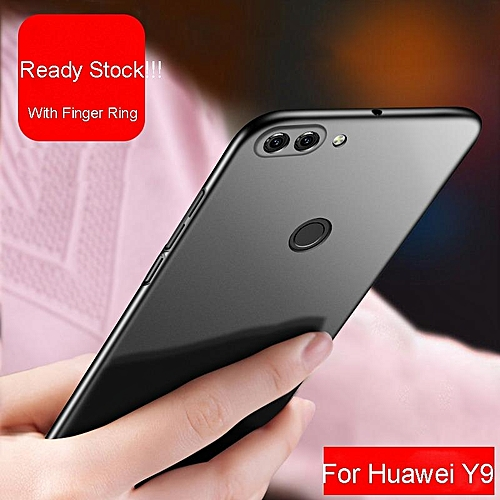 newest 9743c 52ae6 PC Matte Hard Ultra-Thin Shockproof Back Cover Phone Case For Huawei Y9 For  Huawei Y9 238089 (Black)