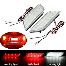 2 PCS LED Rear Bumper Reflector Brake Fog Lights For Subaru Exiga Levorg WRX STI