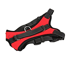 Home-Large Dog Harness Soft Adjustable Harness Pet Dog Chest Strap Vest Collar Red