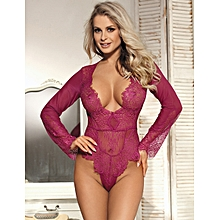 Exquisite Lace Sleeve Teddy Lingerie