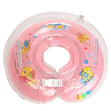 Inflatable Float Ring Baby Infant Swimming Neck Safety Aids Bath Swimming Beach Pink