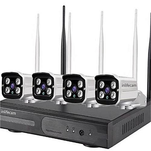 4CH CCTV Camera System Wifi NVR Kit H 264 HD IP Camera Wifi Outdoor Night  Vision Security Camera System DIY