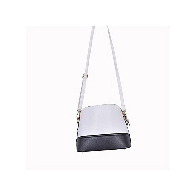 3f23e70a48 bluerdream-New Women Messenger Bags Vintage Small Shell Leather Handbag  Casual Bag -White ...