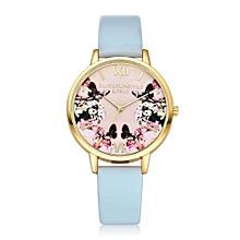 Olivaren LVPAI Watches Women Quartz Wristwatch Clock Ladies Dress Gift Watches SBSky Blue
