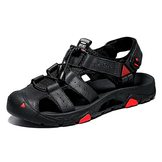 fcaf3362ab29 SocNoDn Men Fashion Casual Male Walking Sandals Summer Shoes Black ...