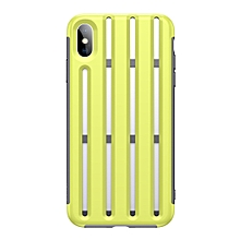 Baseus Hollow-ed Out Bike Helmet Design Heat Dissipation TPU Case for iPhone XS Max(Green)