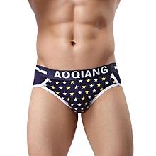 Men's Underwear Intimates  Five-Pointed Star Print Underwear Boxers Pouch Shorts Underpants DB M@ Dark Blue
