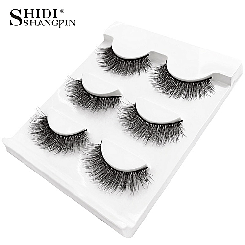 e13b987f918 Generic New 3 pairs natural false eyelashes fake lashes long makeup 3d mink  lashes extension eyemink eyelashes for beauty #X11(X07)