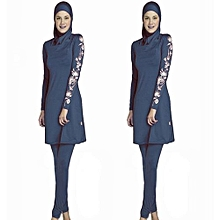 Women Printed Floral Hijab Muslim Swimwear Beach Bathing Suit Muslimah Islamic Swimsuit Swim Surf Wear Sport Clothing