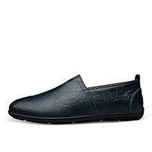 Mens Slip-On Casual Shoes Soft Driving Shoes-Blue