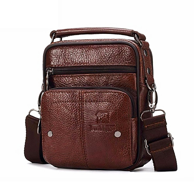 92665d0aac FUZHINIAO Men Genuine Leather Messenger Bag Small Luxury Brand Zipper Designer  Shoulder Bag