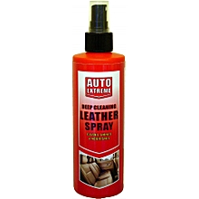 Deep cleaning leather spray cleans,shines & nourishes