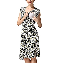 69e0851d55414 Women's Pregnancy Sleeveless Floral Print Breastfeeding Dress Nursing  Sundress
