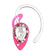 Mini Wireless Stereo Bluetooth 4.0 Earphone Headphone Headset Crystal -Hot Pink