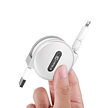 2-In-1 Retractable Lightning Charger Cable Suitable For Android IOS