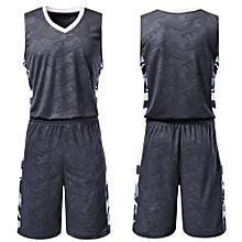 High Quality Customized Fashion Brand Comfortable Men's Basketball Team Sport Jersey Set-Black