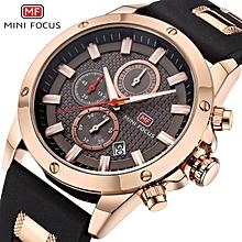 MINIFOCUS Genuine Leather Sport Men's Wrist Watch F0089G WWD