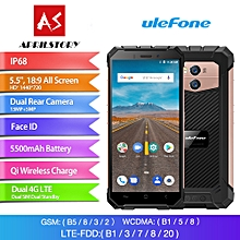 Armor X 5.5-inch (2GB, 16GB ROM) 5500mAh, Android 8.1, 13MP+8MP, IP68 Waterproof, Dual Sim 4G LTE Smartphone - Rose Gold