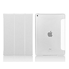 For IPad 6 Case, Coosybo-Smart Cover Folded Ultra Thin Luxury Leather Protective Matte Case For Apple IPad 6/Air 2 (Silk-White)