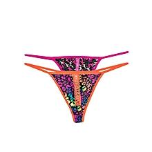 Pink  And  Orange Mixed Pattern Thong