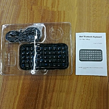 Wireless Mini Bluetooth Full Touch Keyboard HB2100 for Smart Phone black