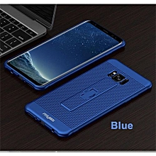 Samsung S8 Phone Cases With Hidden Ring Stand Soft Breathing Cover For Samsung S8 Cases Heat Cooling Case - Blue
