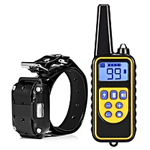 800m Waterproof Rechargeable Remote Control Dog Electric Training Collar With LCD Display For All Size Dogs-Yellow And Black