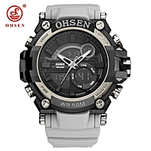 NEW Top Brand Fashion OHSEN Man Male Digital Quartz Watch Waterproof Sport Watch Men Rubber Band Wristwatch Relogios Masculinos