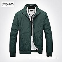 Men's Hot Sale Casual Jacket Coat Men's Fashion Winter Long Sleeve Jacket Slim Fit Stand Collar-green