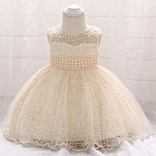 cbc6f2ead95 Baby Dress For Girls Kids Formal Dresses Champagne Lace Beading Mesh Princess  Dresses Newborn Clothes